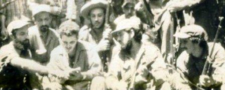 Jesús Carreras y un grupo de guerrilleros en el Escambray, Cuba.