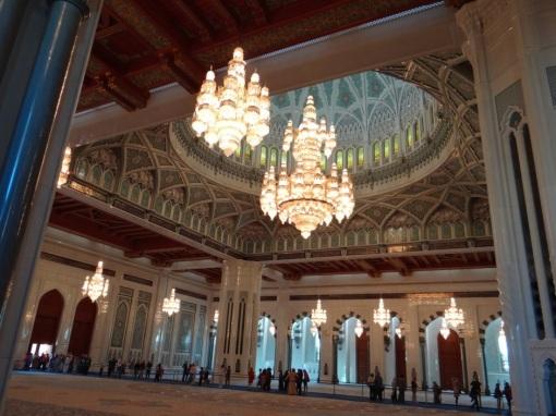 Sala de La Gran Mezquita del Sultán Qabous.