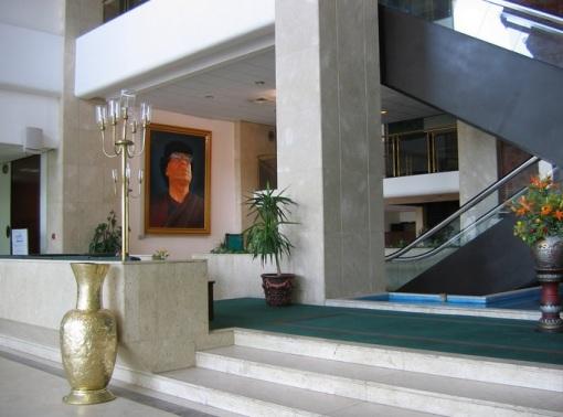 Entrada al Hotel Al Kabir en Tripoli. Foto tomada en tiempos de Muamar el Gadafi, el 18 de Marzo de 2006, por Duimdog